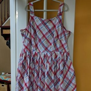Myrtlewood of California plaid dress 4x